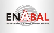 """Ena""bling companies on a glo'bal' spectrum, to do bus. with the Federal Govt Logo - Entry #10"