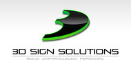 3D Sign Solutions Logo - Entry #140