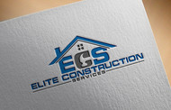 Elite Construction Services or ECS Logo - Entry #96