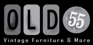 """""""OLD 55"""" - mid-century vintage furniture and wares store Logo - Entry #243"""