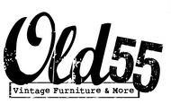 """""""OLD 55"""" - mid-century vintage furniture and wares store Logo - Entry #159"""