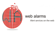 Logo for WebAlarms - Alert services on the web - Entry #112