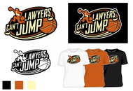 "charity basketball event logo (name with logo is ""lawyers can't jump"") - Entry #14"