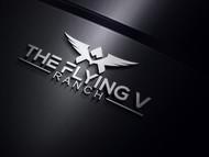 The Flying V Ranch Logo - Entry #94