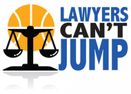 "charity basketball event logo (name with logo is ""lawyers can't jump"") - Entry #12"