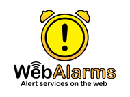 Logo for WebAlarms - Alert services on the web - Entry #131
