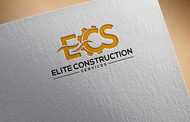 Elite Construction Services or ECS Logo - Entry #213
