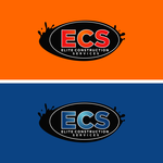 Elite Construction Services or ECS Logo - Entry #89