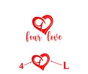 Four love Logo - Entry #260