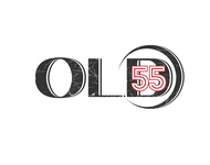 """""""OLD 55"""" - mid-century vintage furniture and wares store Logo - Entry #108"""