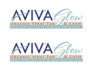 AVIVA Glow - Organic Spray Tan & Lash Logo - Entry #101