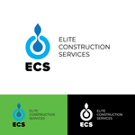 Elite Construction Services or ECS Logo - Entry #162