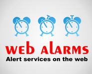 Logo for WebAlarms - Alert services on the web - Entry #143