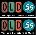 """""""OLD 55"""" - mid-century vintage furniture and wares store Logo - Entry #196"""
