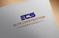 Elite Construction Services or ECS Logo - Entry #123