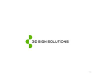 3D Sign Solutions Logo - Entry #155