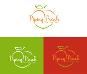 Piping Peach, Honey Lemon Pepper Logo - Entry #24
