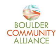 Boulder Community Alliance Logo - Entry #86