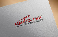 Man on fire welding Logo - Entry #18