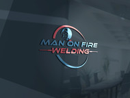 Man on fire welding Logo - Entry #9
