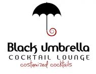 Black umbrella coffee & cocktail lounge Logo - Entry #201