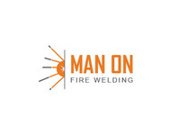 Man on fire welding Logo - Entry #53