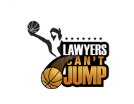 "charity basketball event logo (name with logo is ""lawyers can't jump"") - Entry #16"