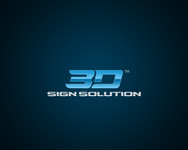 3D Sign Solutions Logo - Entry #72