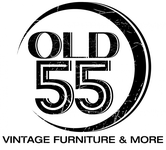 """""""OLD 55"""" - mid-century vintage furniture and wares store Logo - Entry #174"""