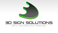 3D Sign Solutions Logo - Entry #179