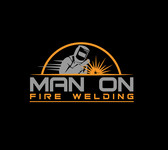 Man on fire welding Logo - Entry #33