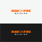 Man on fire welding Logo - Entry #68