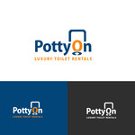 Potty On Luxury Toilet Rentals Logo - Entry #70