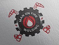 Man on fire welding Logo - Entry #56