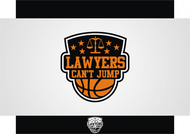 "charity basketball event logo (name with logo is ""lawyers can't jump"") - Entry #21"