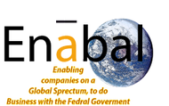 """Ena""bling companies on a glo'bal' spectrum, to do bus. with the Federal Govt Logo - Entry #66"