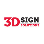 3D Sign Solutions Logo - Entry #134