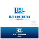 Elite Construction Services or ECS Logo - Entry #165