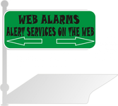 Logo for WebAlarms - Alert services on the web - Entry #80