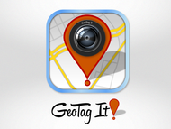 Android/iOS GPS/Photo tagging App Icon Logo - Entry #76