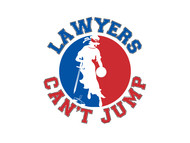 "charity basketball event logo (name with logo is ""lawyers can't jump"") - Entry #39"