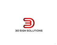 3D Sign Solutions Logo - Entry #142