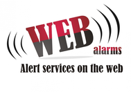 Logo for WebAlarms - Alert services on the web - Entry #103