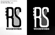 Woodwind repair business logo: R S Woodwinds, llc - Entry #117