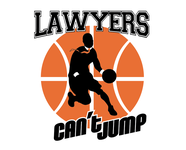 "charity basketball event logo (name with logo is ""lawyers can't jump"") - Entry #5"