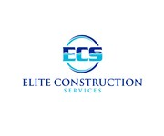 Elite Construction Services or ECS Logo - Entry #194