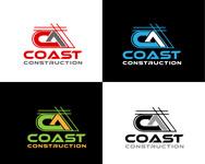 CA Coast Construction Logo - Entry #113