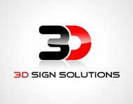 3D Sign Solutions Logo - Entry #137