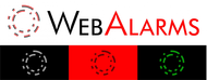 Logo for WebAlarms - Alert services on the web - Entry #7