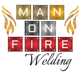 Man on fire welding Logo - Entry #46